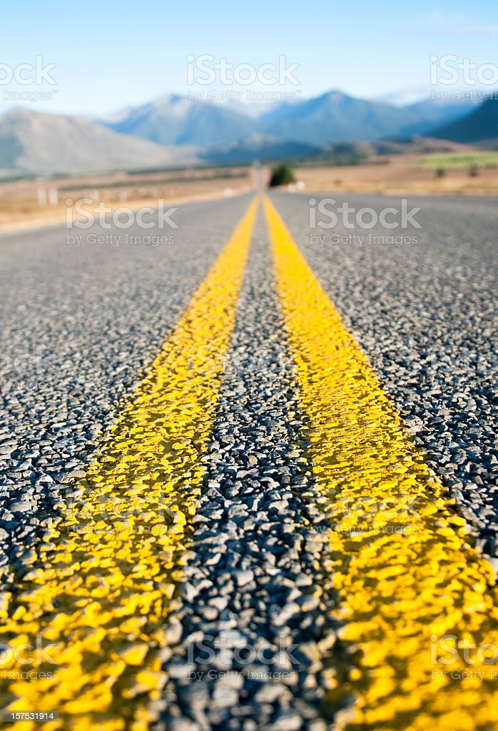 Straight Road in the Country stock photo
