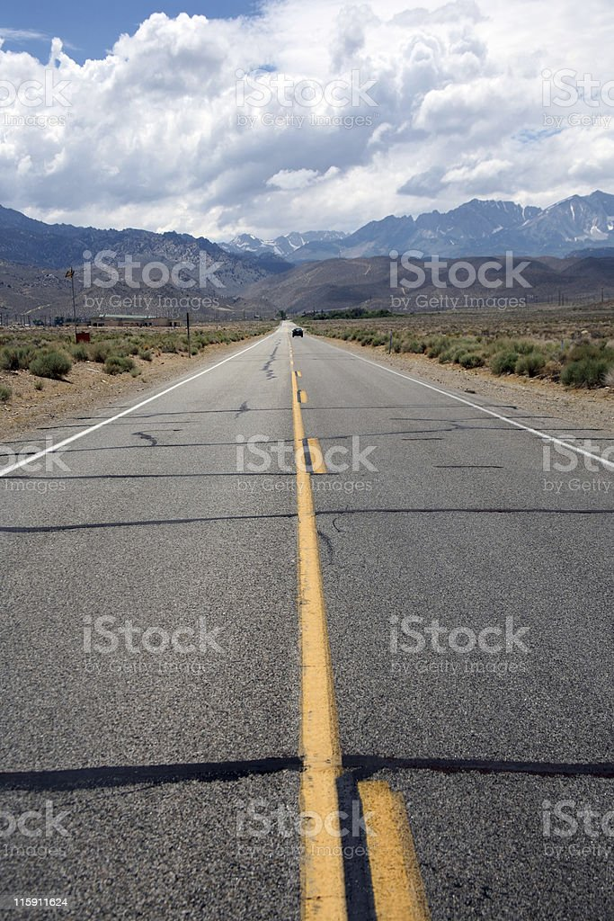 Straight road royalty-free stock photo