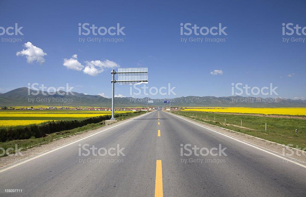straight road royalty-free stock photo