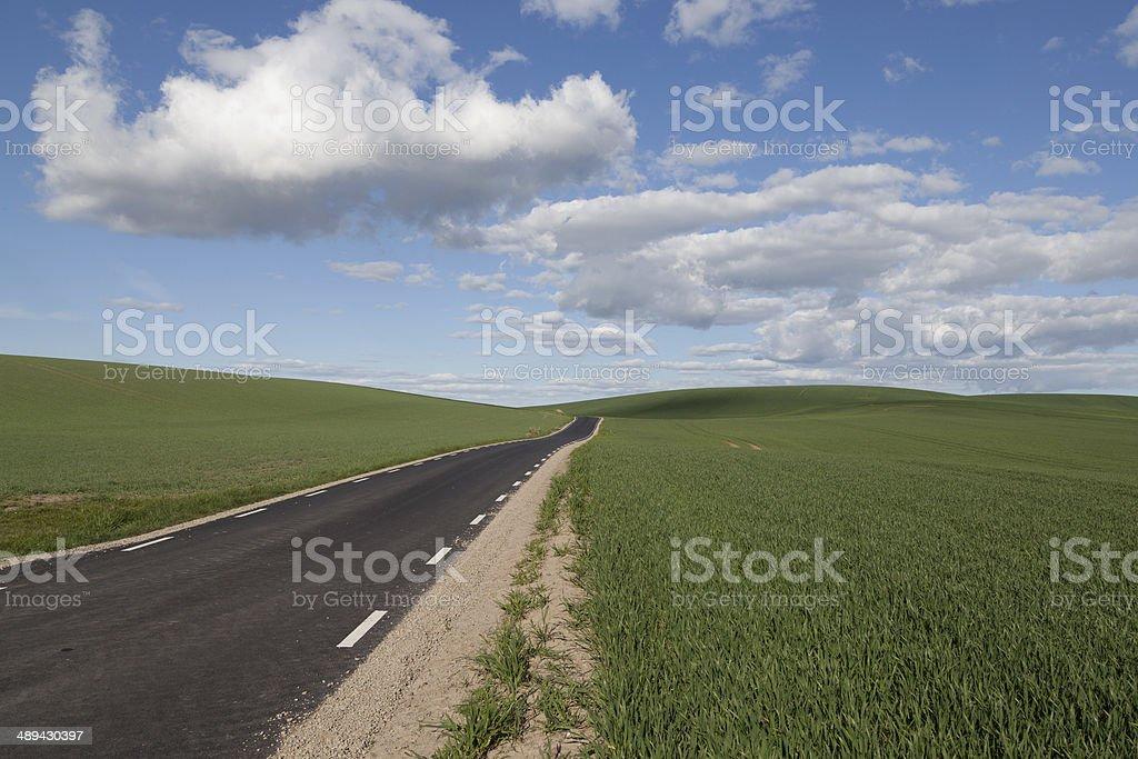 Carretera recta foto de stock libre de derechos
