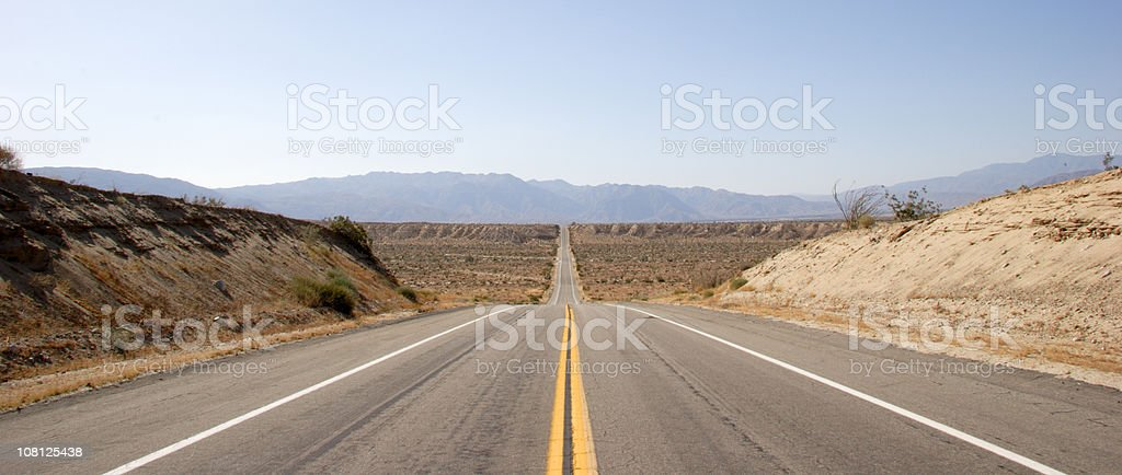 Straight Road Through Valley royalty-free stock photo