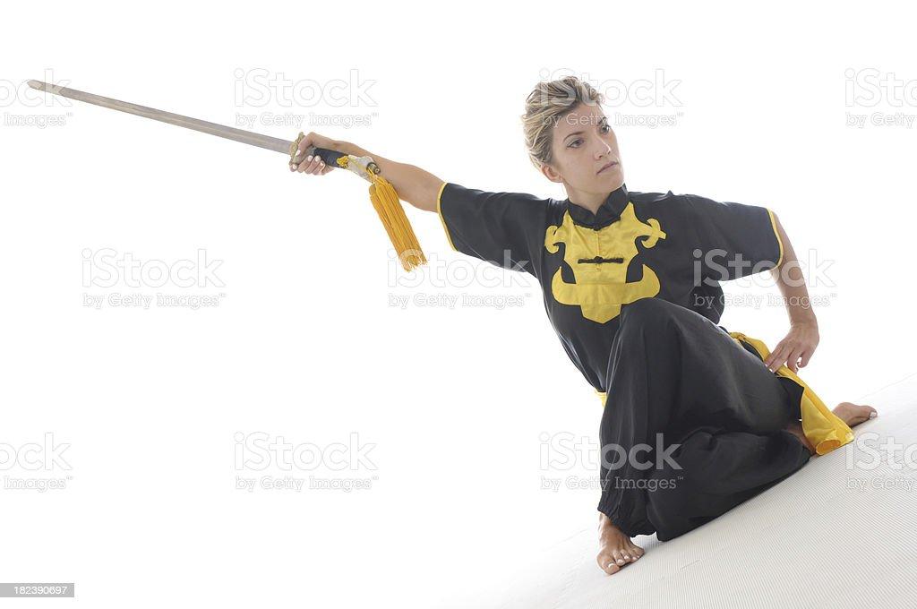 Straight sword dance stock photo