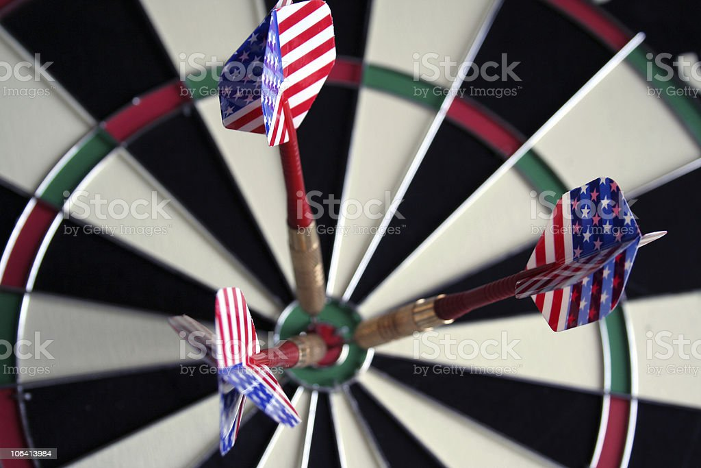 Straight to the target stock photo