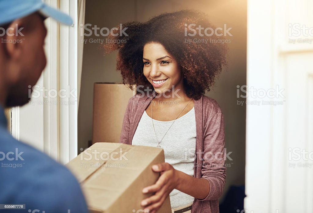 Straight to your door stock photo