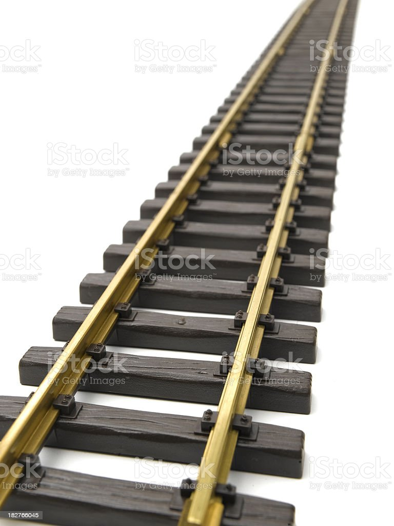 straight track royalty-free stock photo