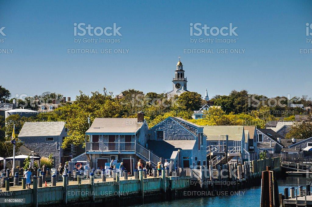 Straight Wharf-Nantucket stock photo