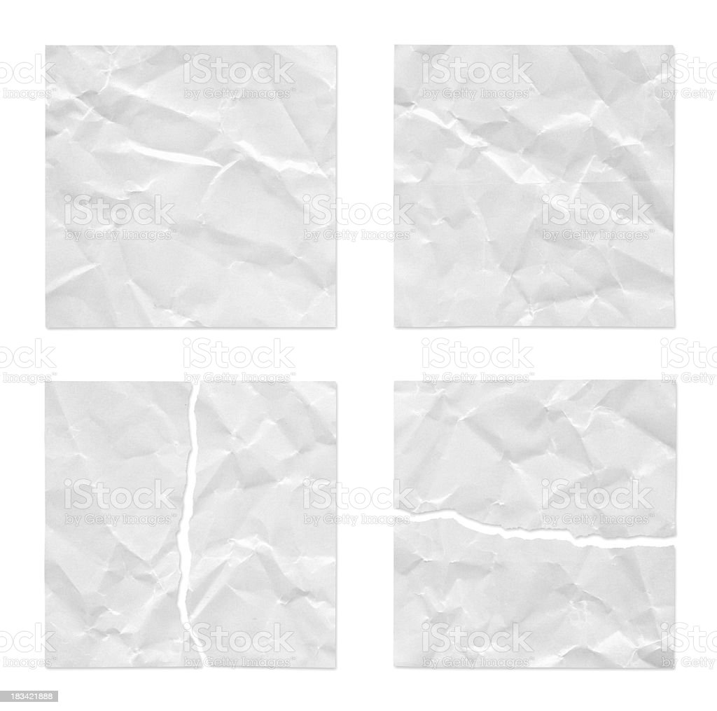 Straight Wrinkled and Torn royalty-free stock photo