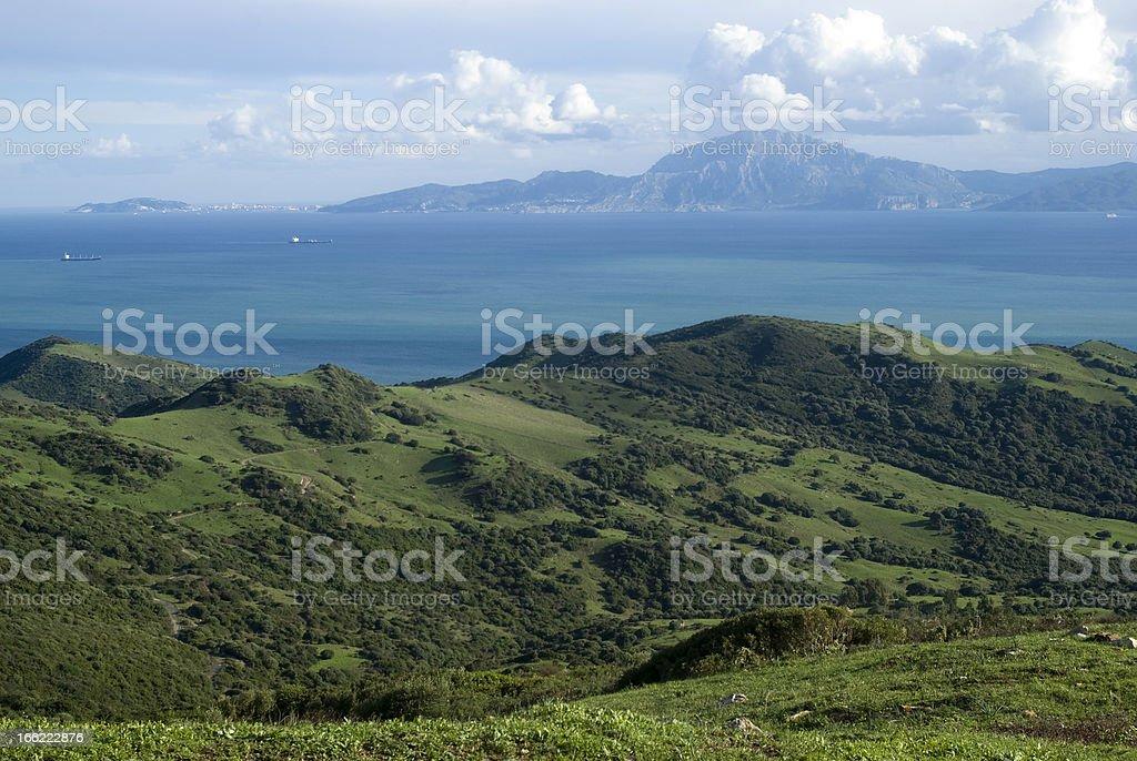 Strait of Gibraltar stock photo