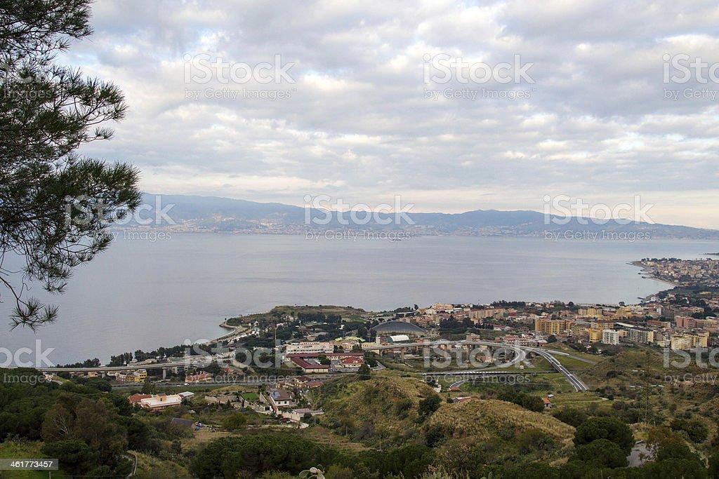Strait of Messina stock photo