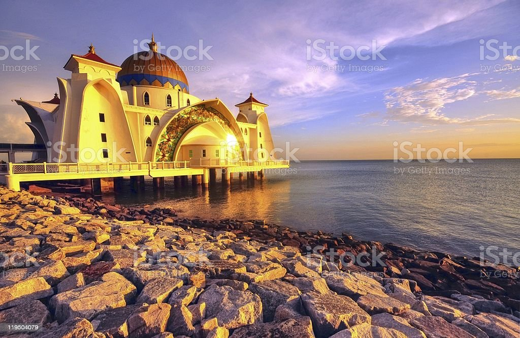 Straits Mosque, Malaysia stock photo