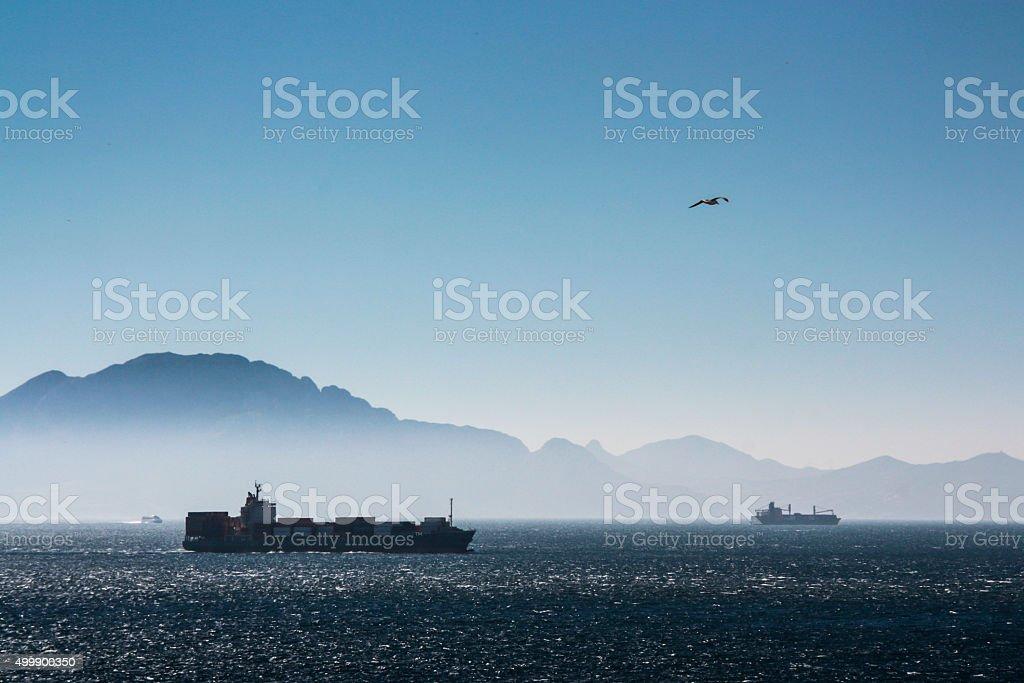 Straits of Gibraltar stock photo