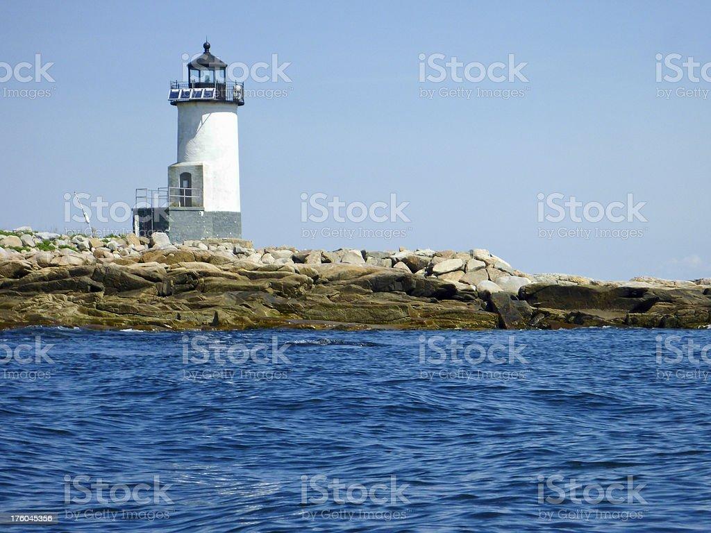 Straitsmouth Island Lighthouse stock photo