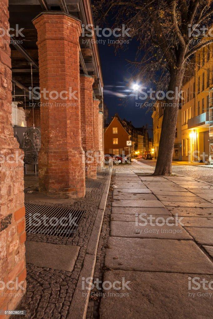 Stralsund by Night stock photo