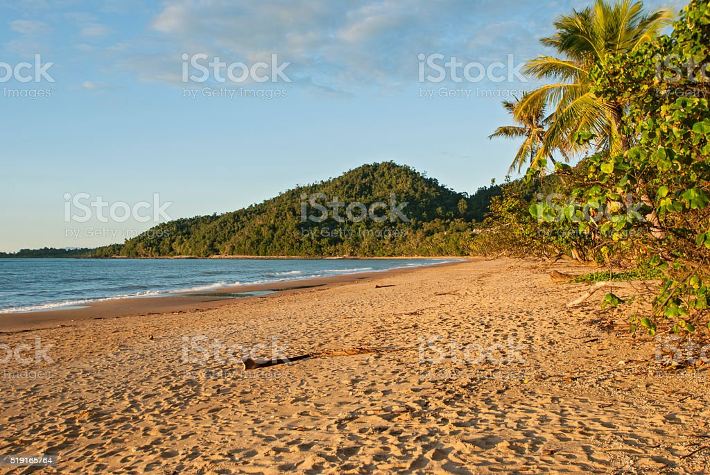 Strand bei Mission Beach stock photo