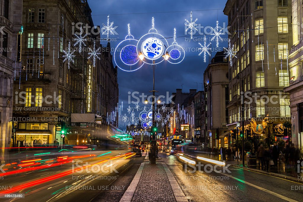 Strand in London at Christmas stock photo
