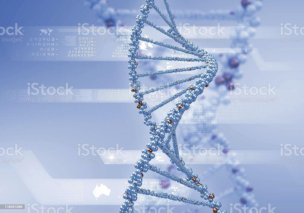 DNA Strand royalty-free stock photo