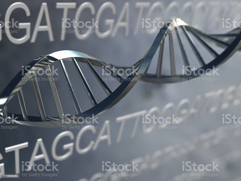 DNA Strand with Code stock photo