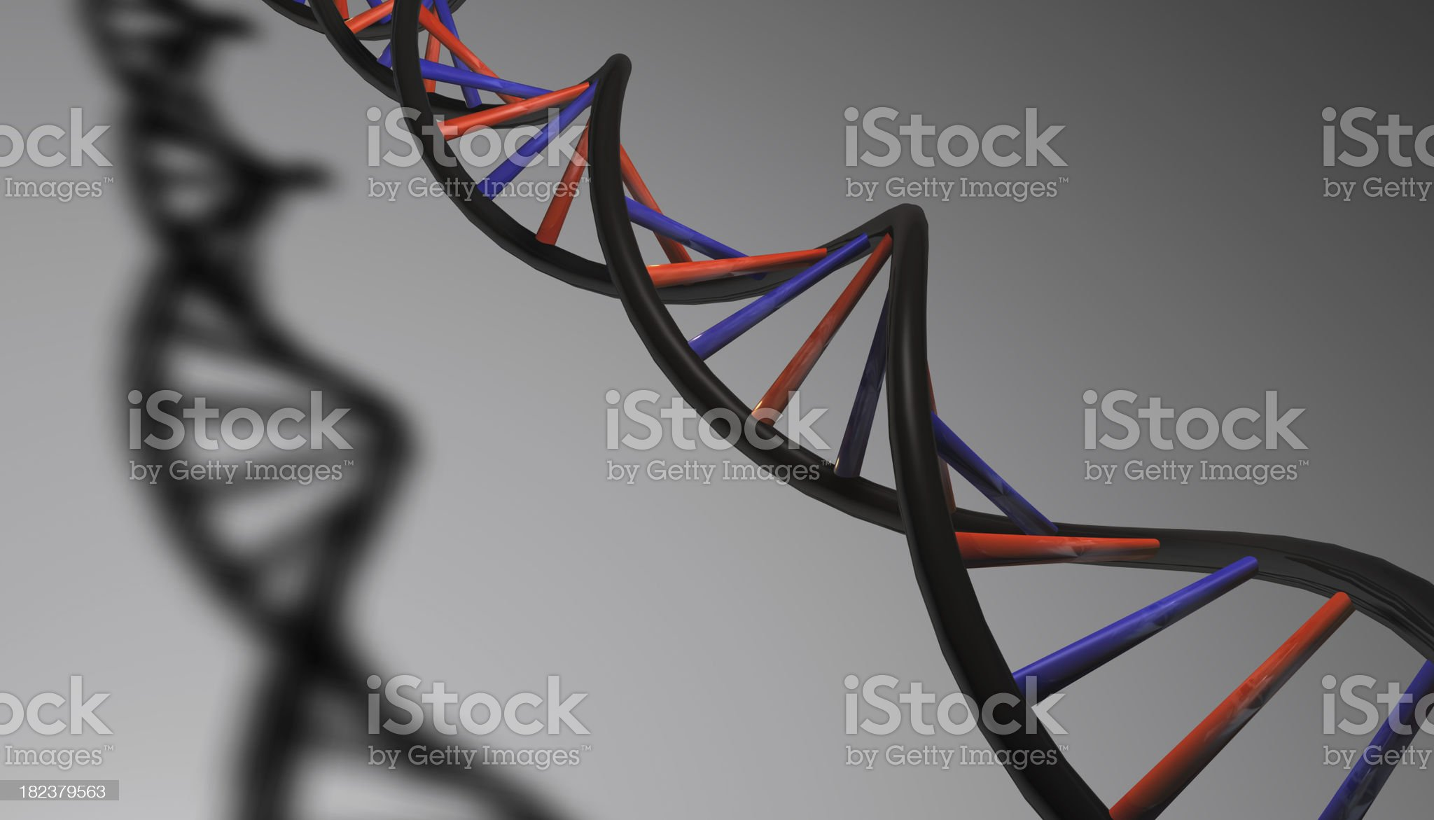 DNA Strand with Shadow royalty-free stock photo