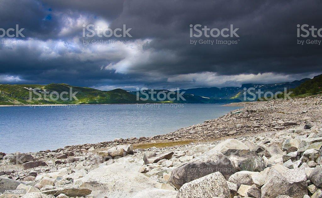 Strandavatnet in Norway stock photo