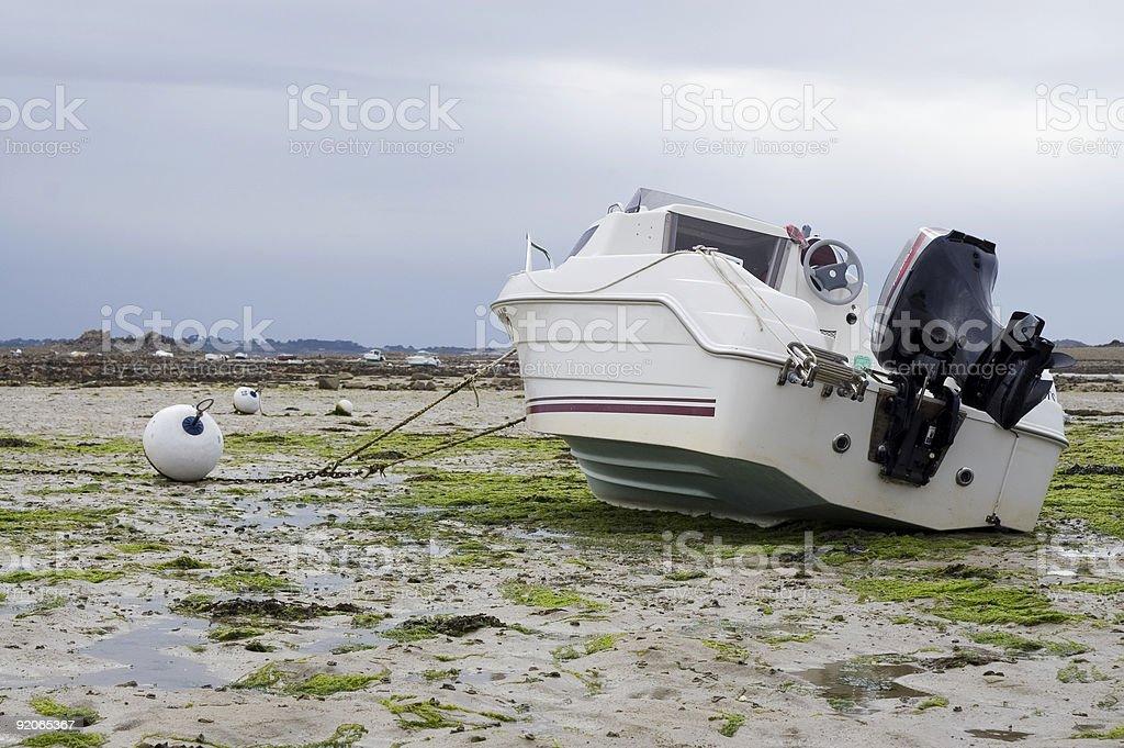 Stranded boat royalty-free stock photo