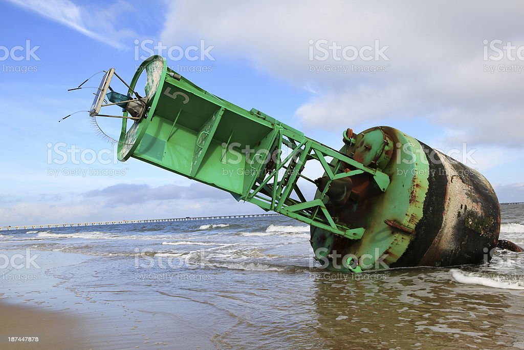 Stranded Buoy royalty-free stock photo
