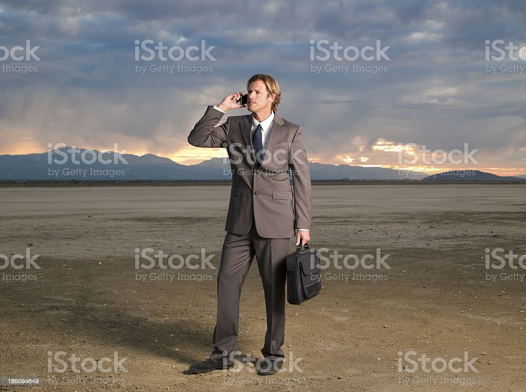 Stranded Business Man royalty-free stock photo