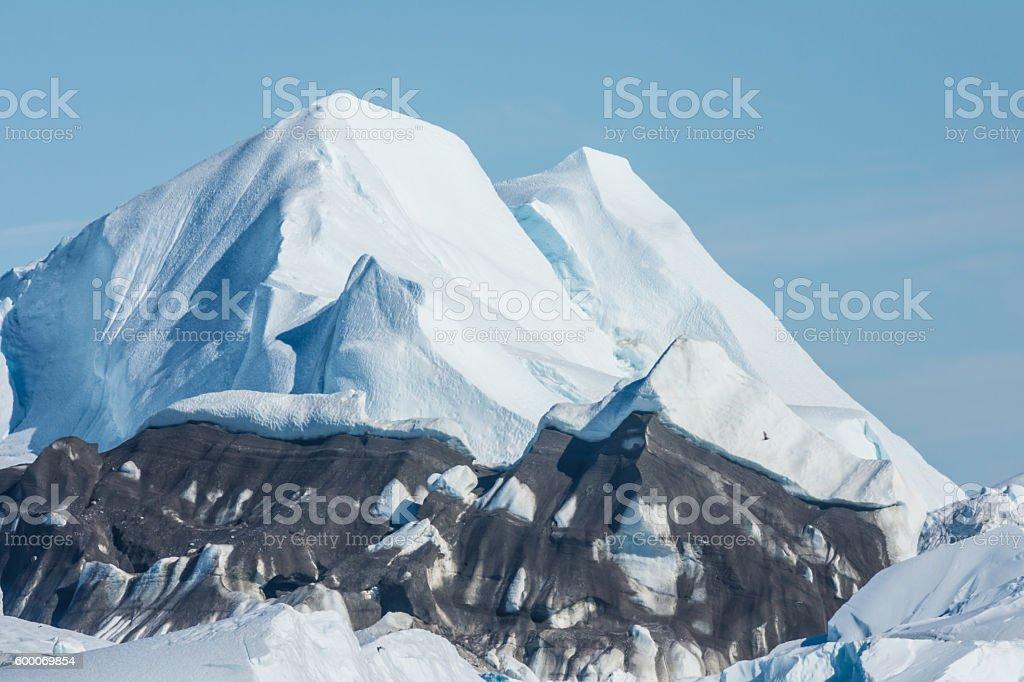Stranded icebergs, Ilulissat, Greenland stock photo