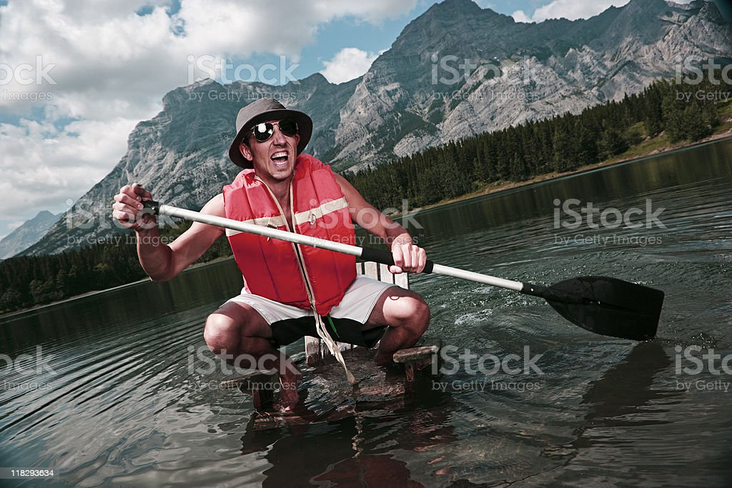 Stranded in High Waters royalty-free stock photo