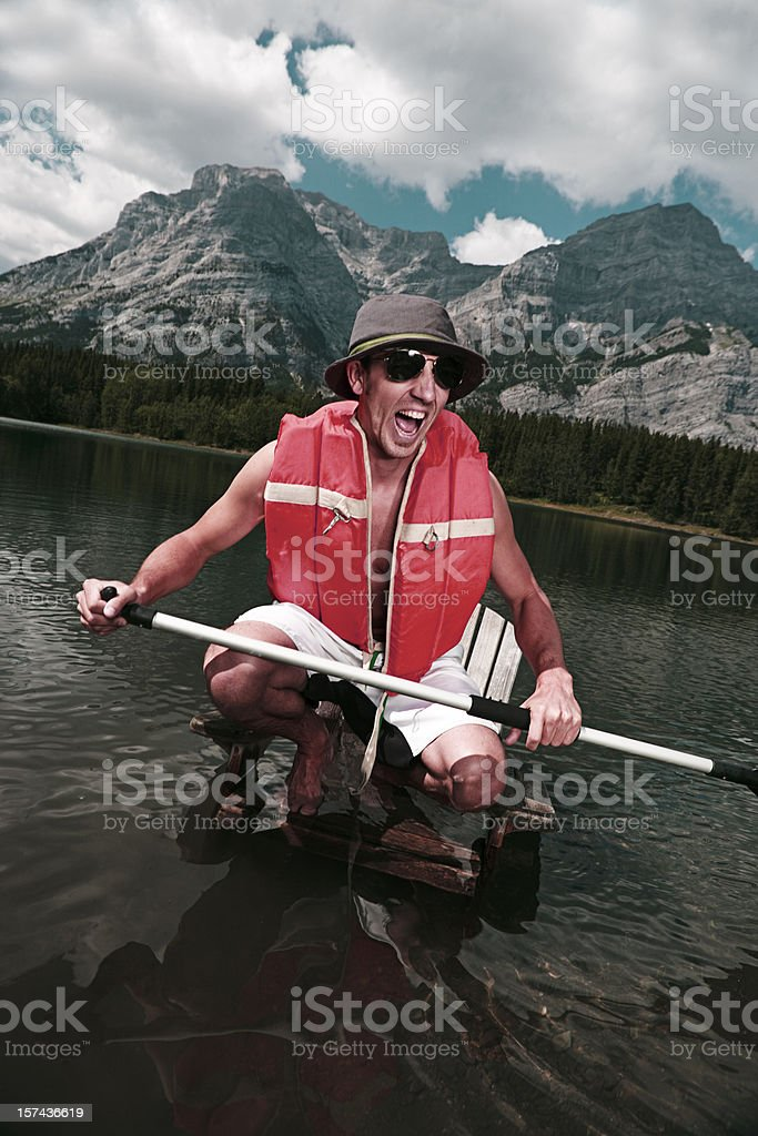 Stranded in High Waters stock photo