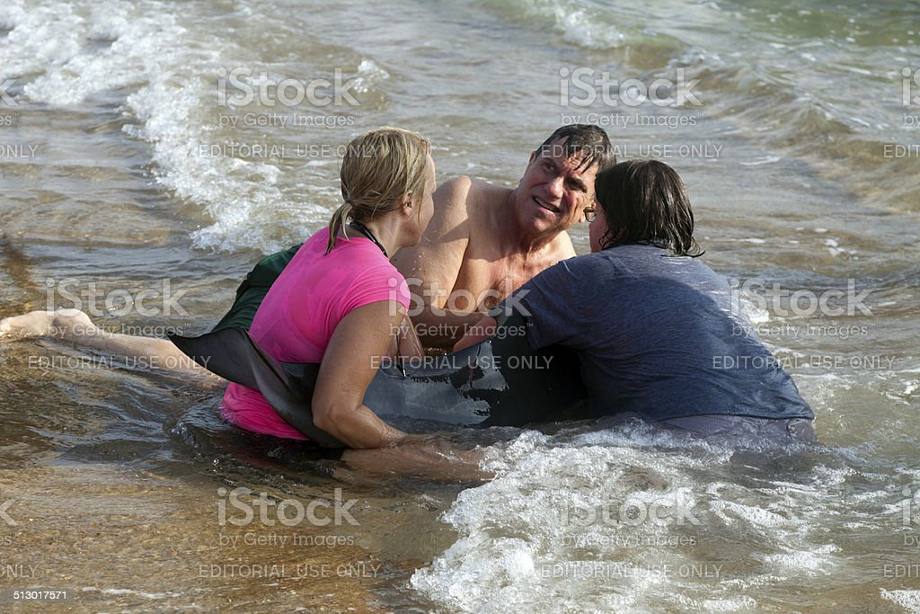 Stranded Rescue stock photo