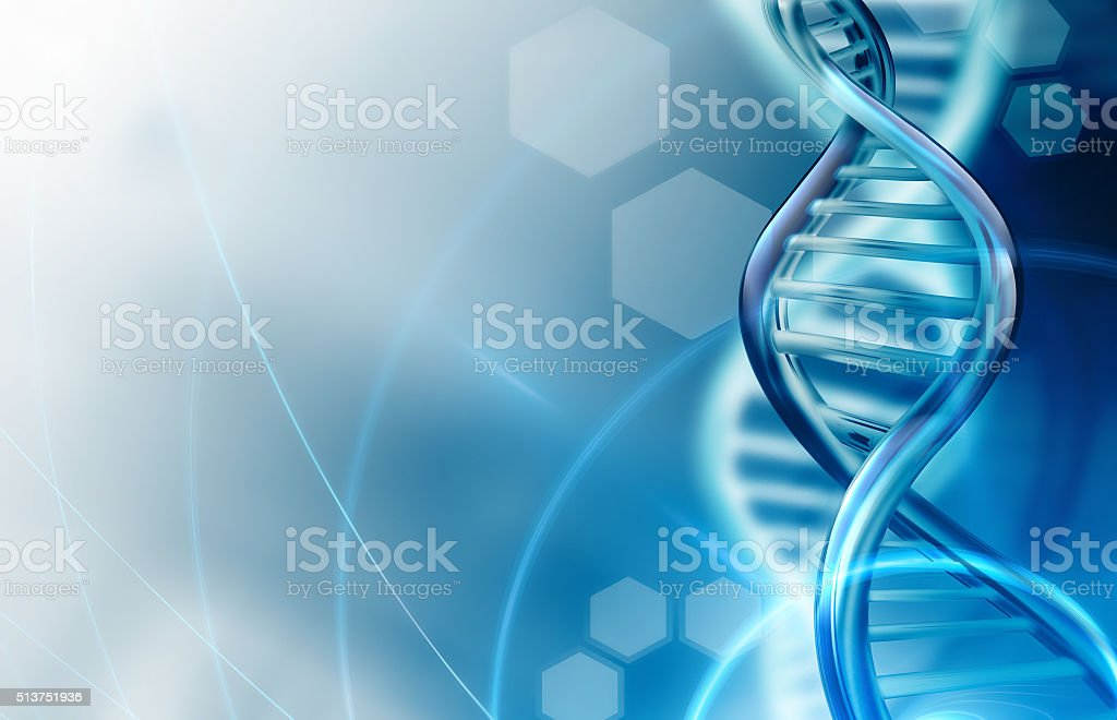 DNA strands background stock photo