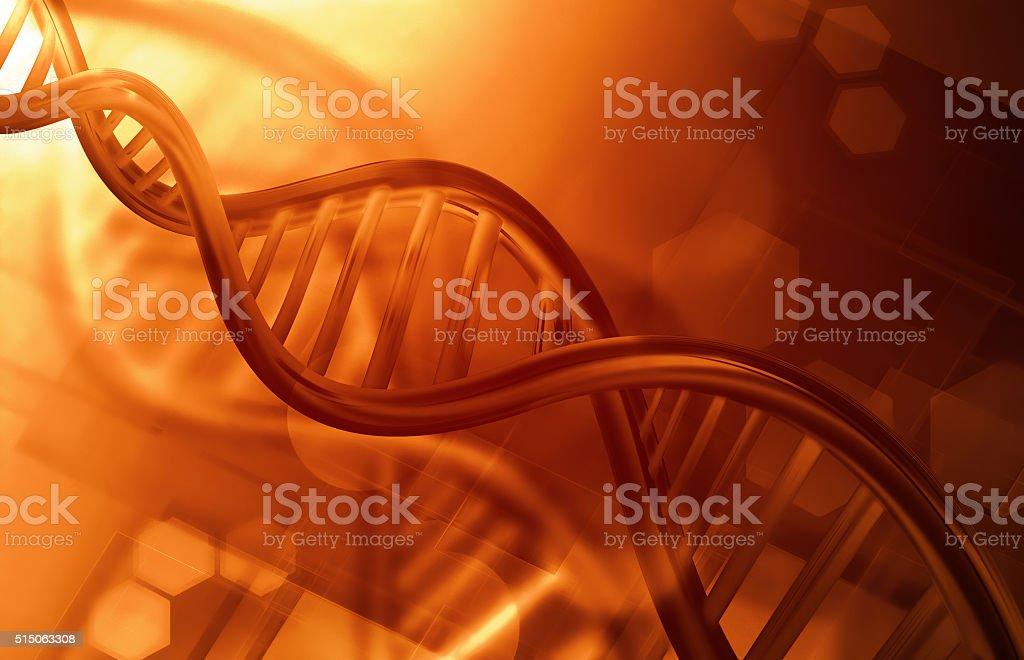 DNA strands background stock photo