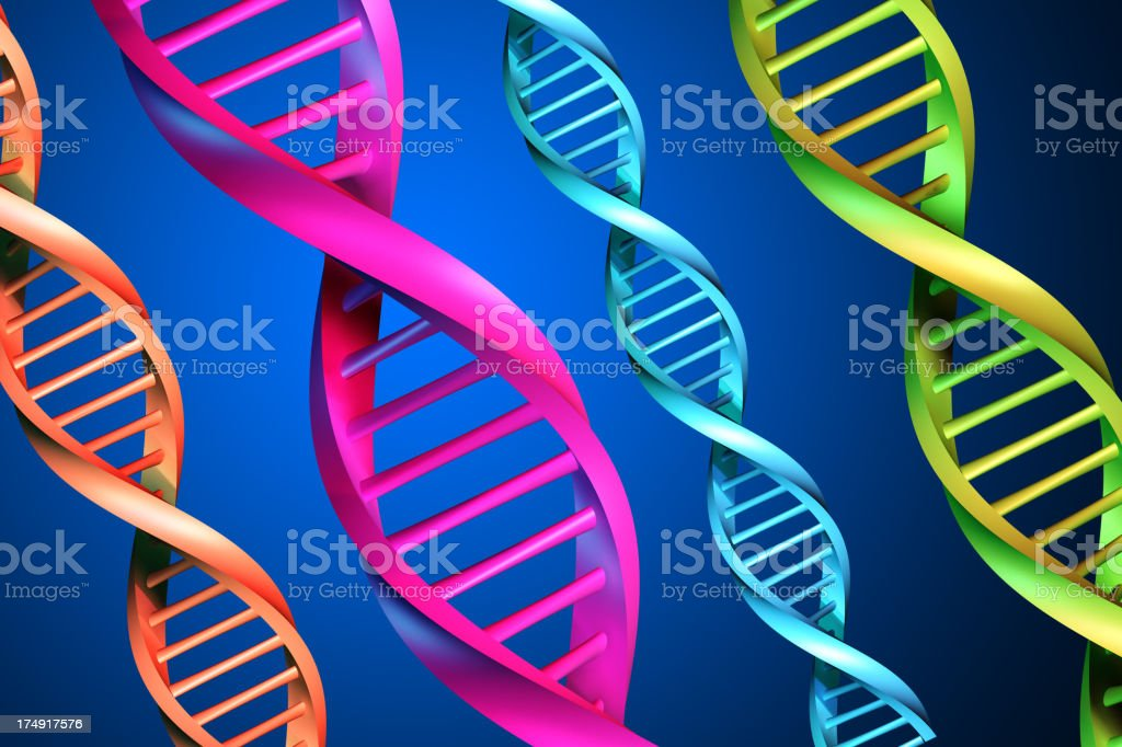 DNA Strands XXL royalty-free stock photo