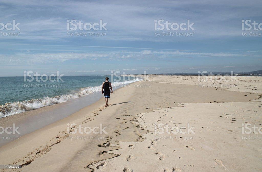 Strandwanderung royalty-free stock photo