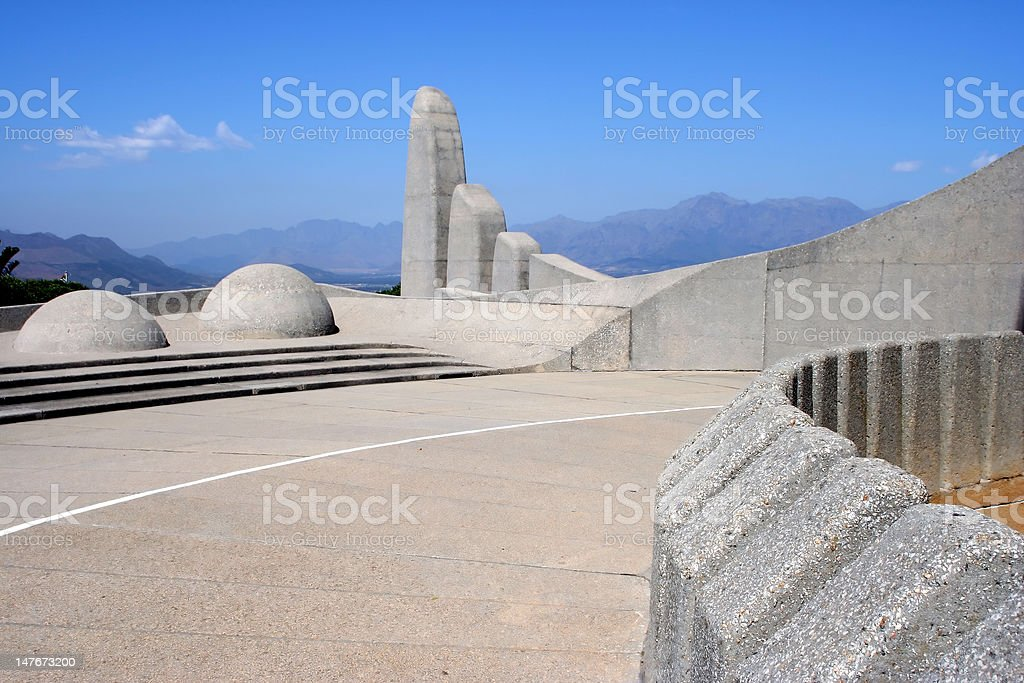 Strange architectural shapes stock photo