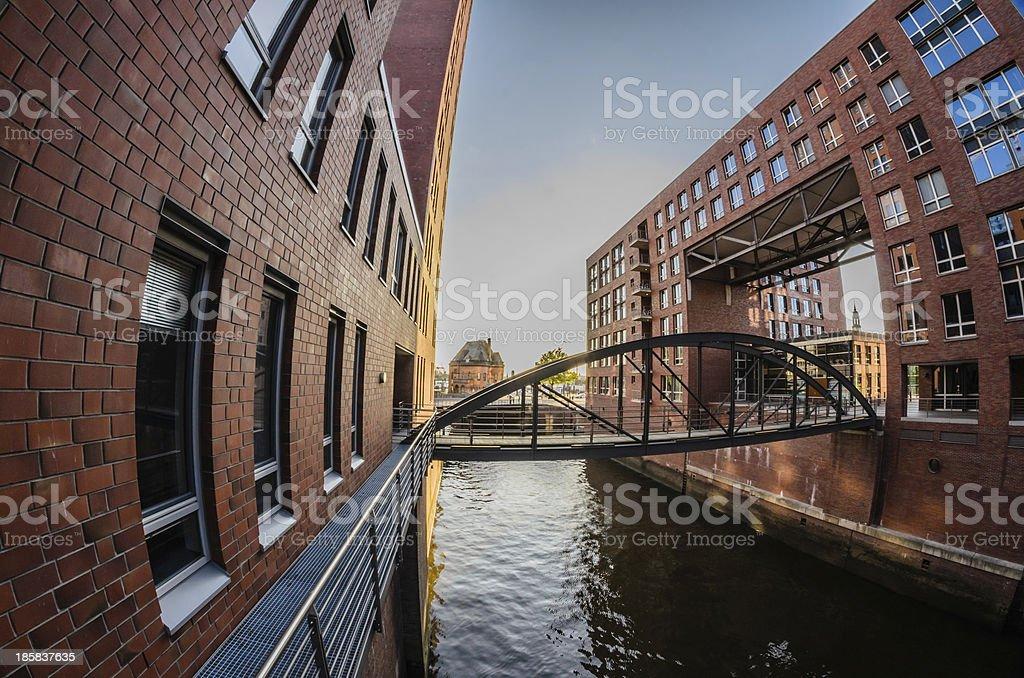 Strange architecture in Hamburg royalty-free stock photo