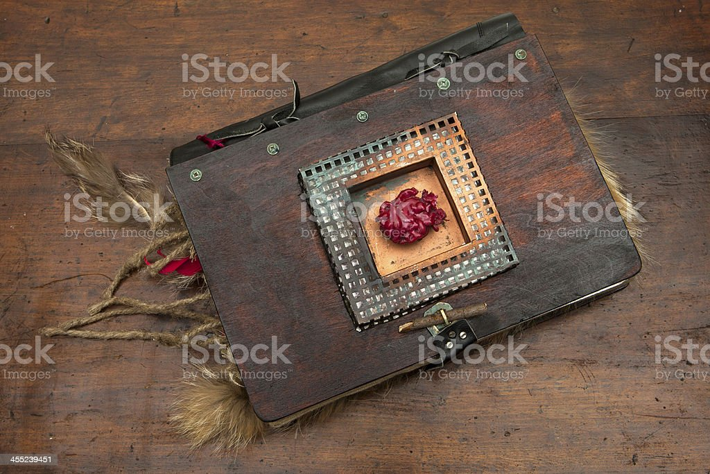 Strange book stock photo