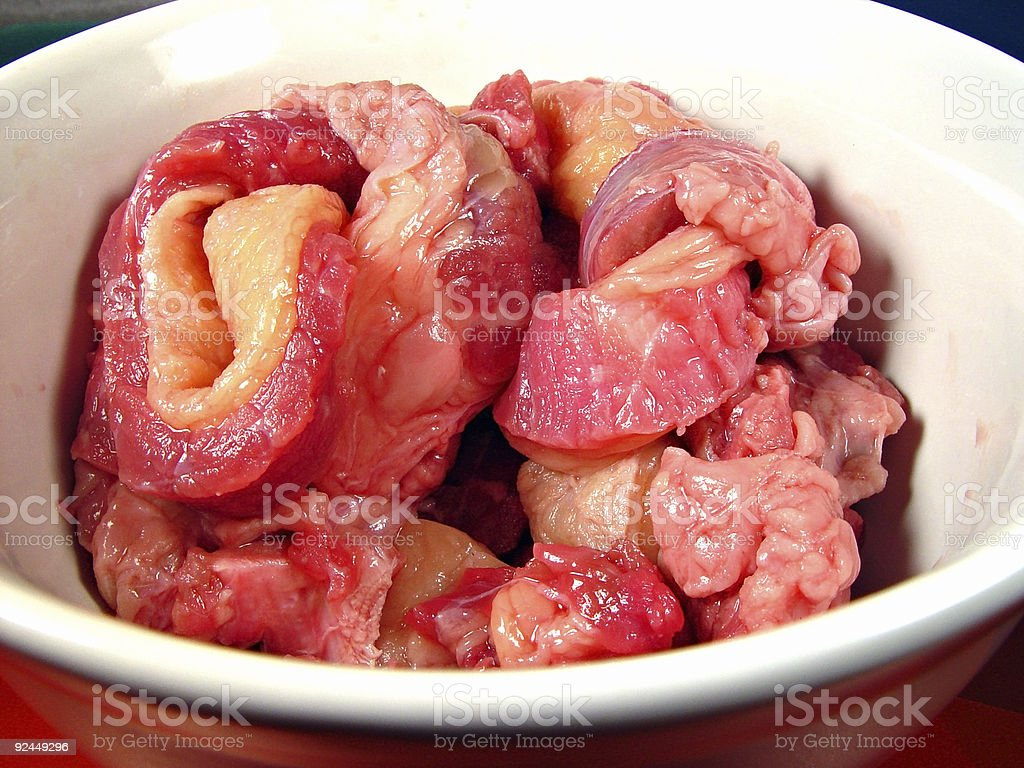 Strange Bowl of Meat royalty-free stock photo