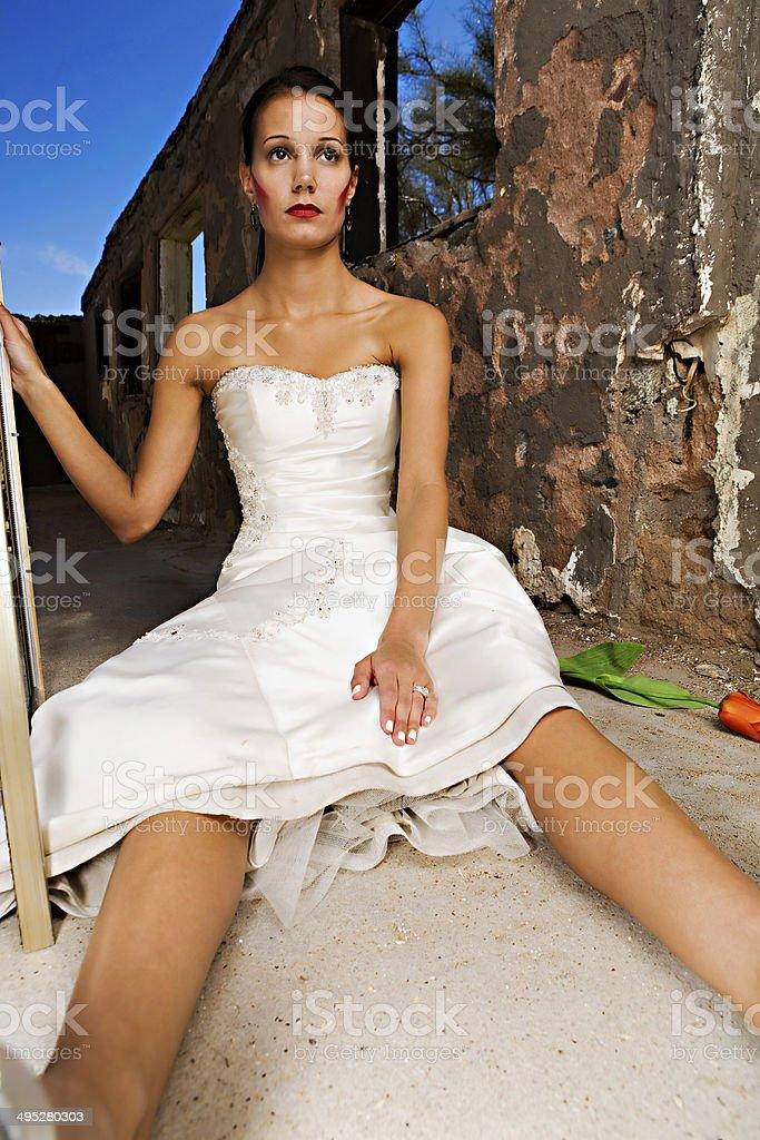 Strange Bride stock photo