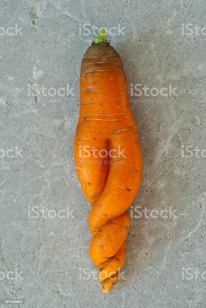 strange carrot stock photo