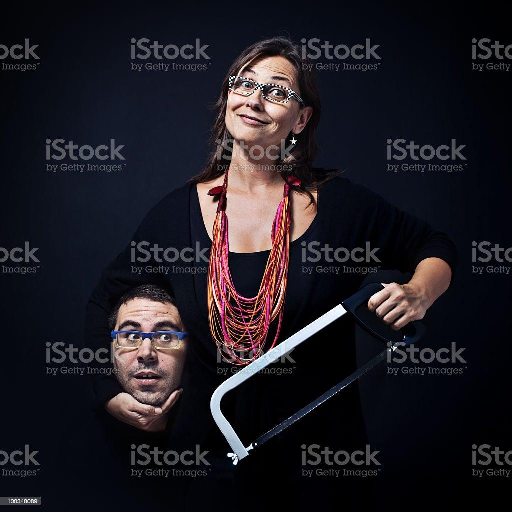 Strange couple stock photo