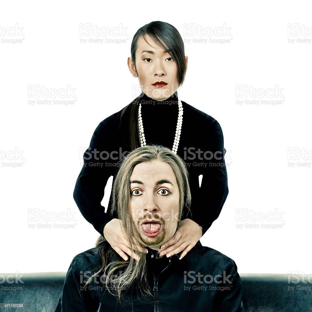 Strange Couple stock photo