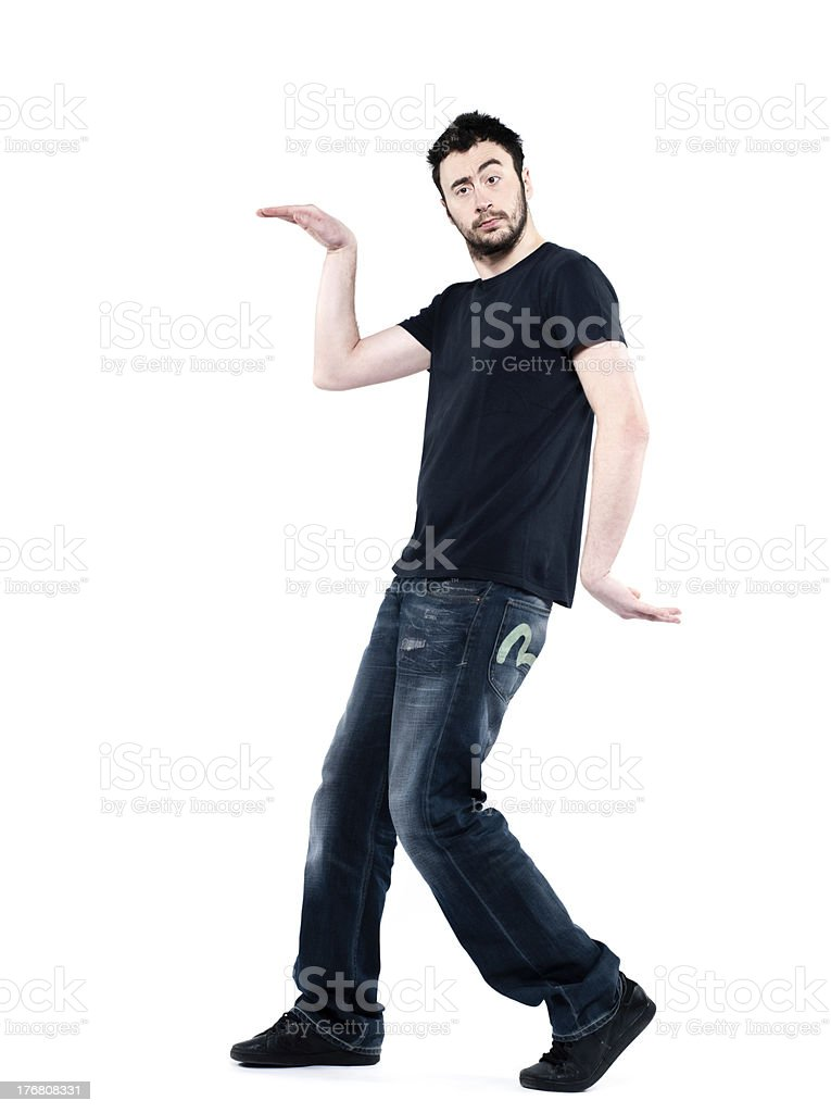 strange egyptian dancing walking man stock photo
