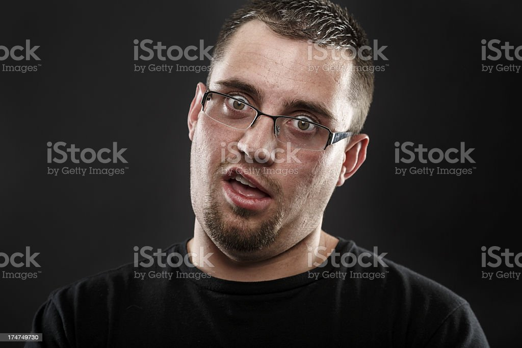 Strange Guy stock photo