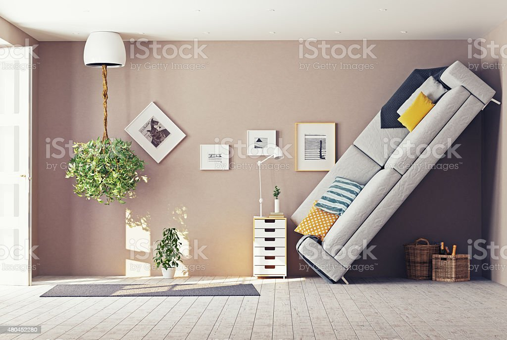 strange  interior stock photo