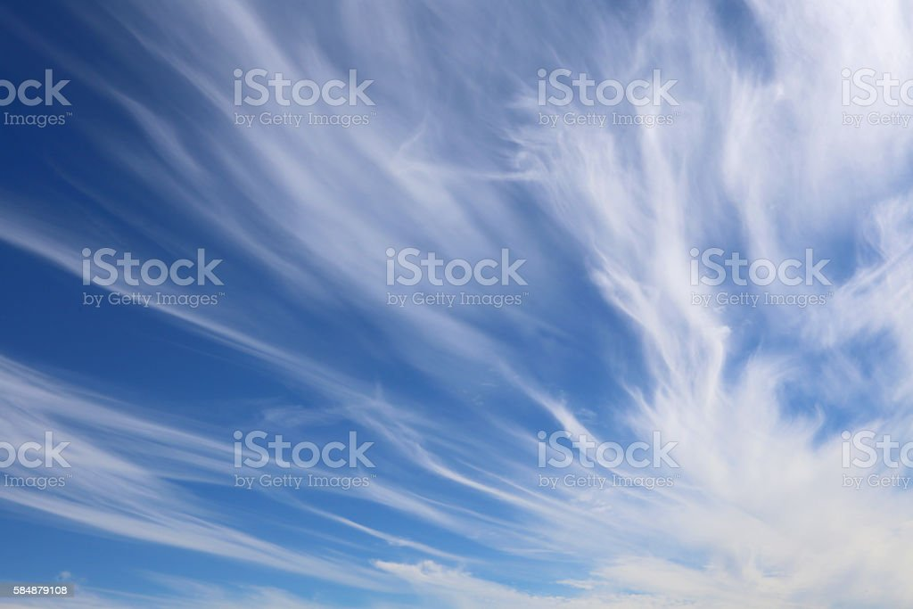 strange white clouds after the storms stock photo