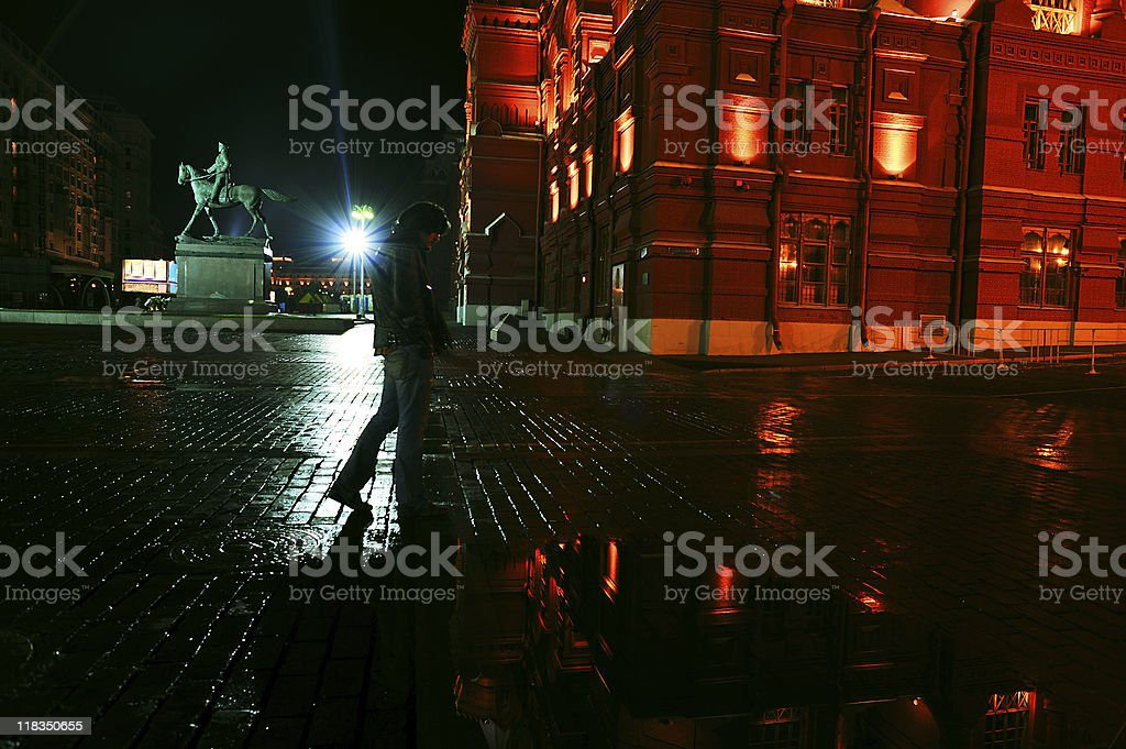 Stranger in Moscow royalty-free stock photo