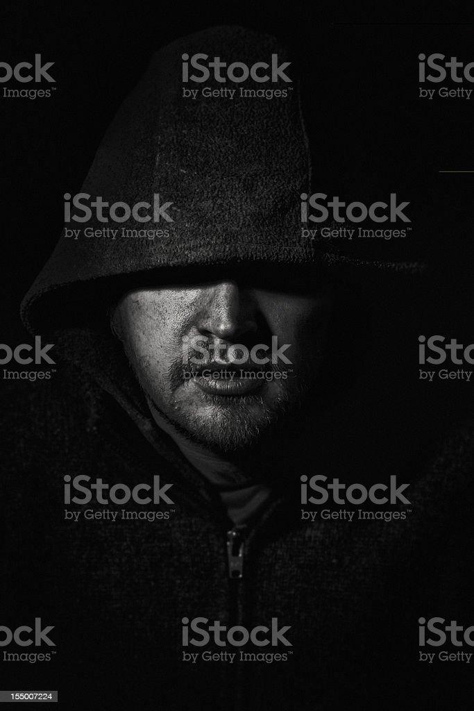 Stranger in the Dark stock photo