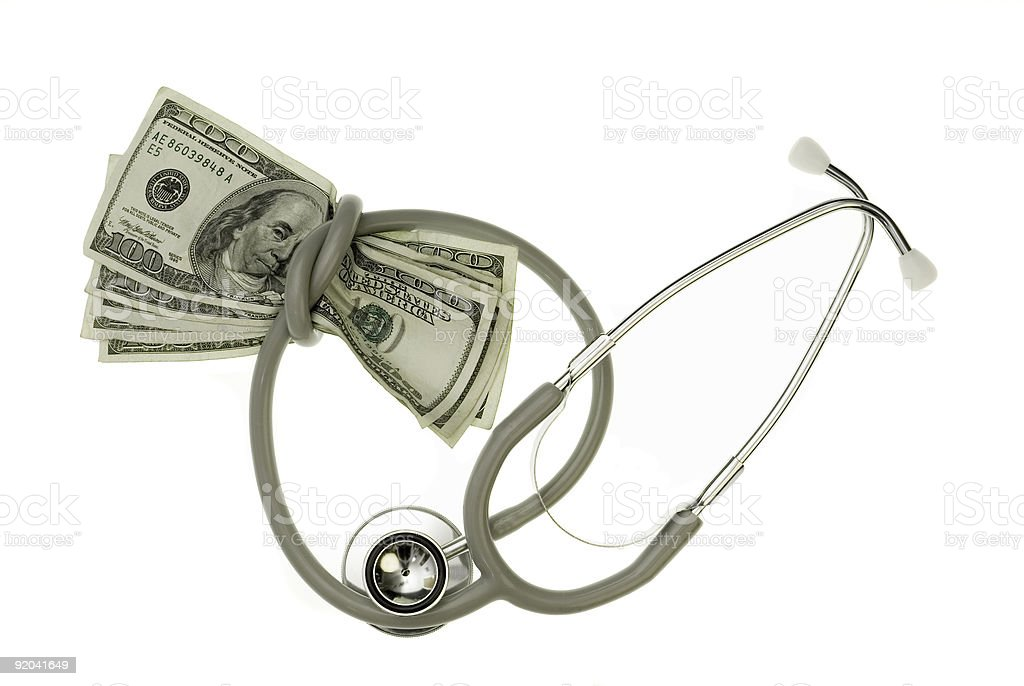 Strangled by Healthcare Costs. royalty-free stock photo