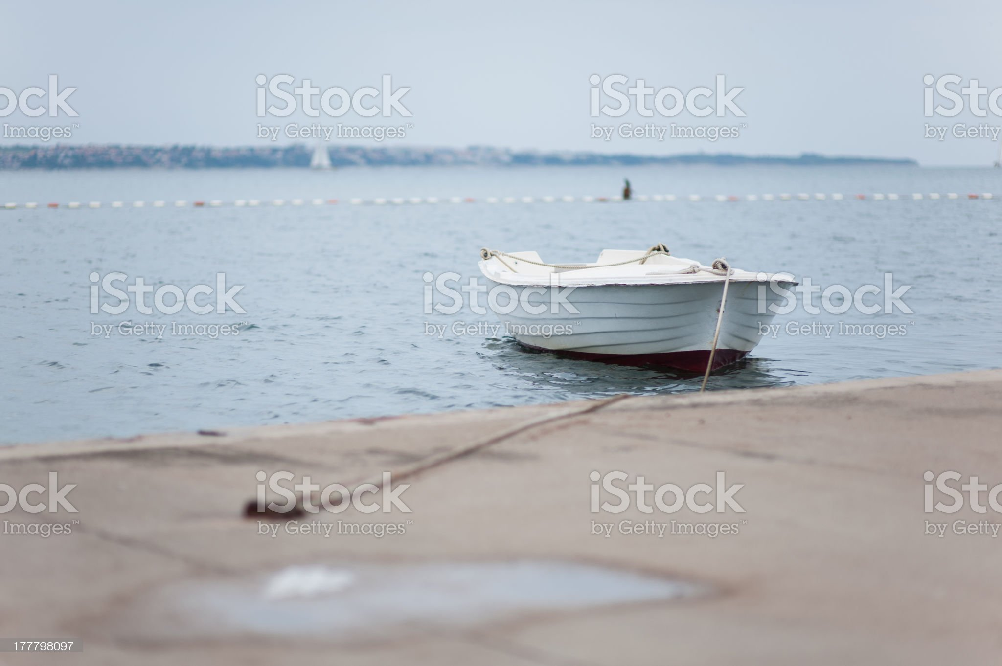 Strapped old boat royalty-free stock photo
